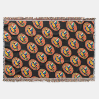 Party Parrot Throw Blanket
