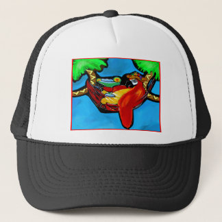 PARTY PARROT TRUCKER HAT