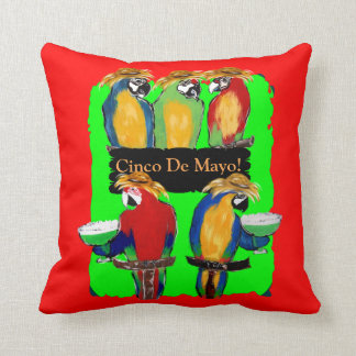 Party Parrots Throw Pillow