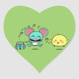 Party, Party! Heart Sticker