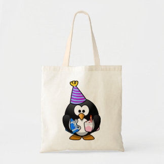 Party Penguin Budget Tote Bag
