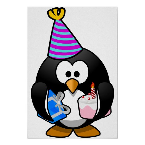 Party Penguin Posters