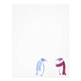 Party Penguins Letterhead Template