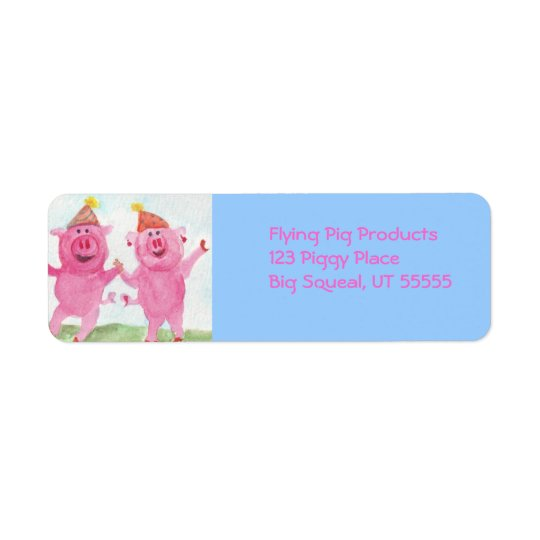 Party Pigs Avery Label Return Address Label