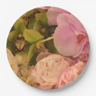 Party plate, paper plate, floral paper plate