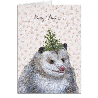 Party 'Possum Christmas card