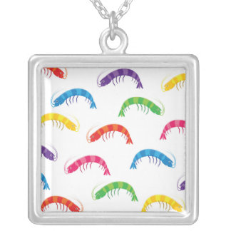 Party Prawns Silver Plated Necklace