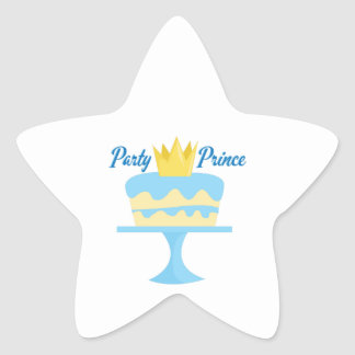 Party Prince Star Sticker