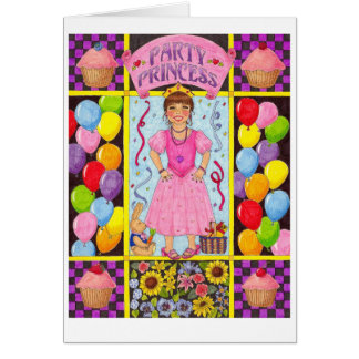 Party Princess Birthday Card