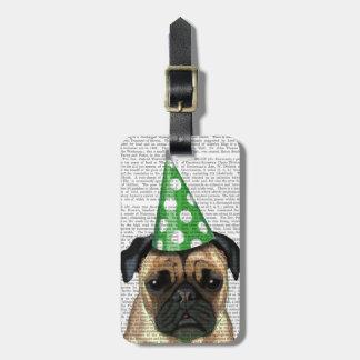 Party Pug 2 Bag Tag
