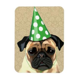 Party Pug Rectangular Photo Magnet