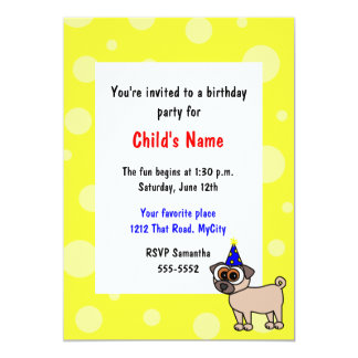Party Puppy Children's Birthday Invitation