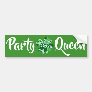 Party Queen St. Patrick's Day Bumper Sticker