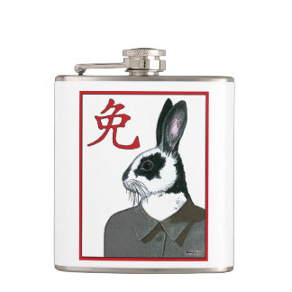 Party Rabbit Hip Flask