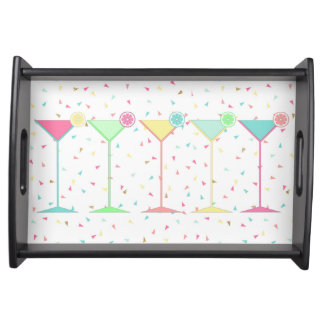Party Serving Tray, Martini's, Confetti, Birthday Serving Tray