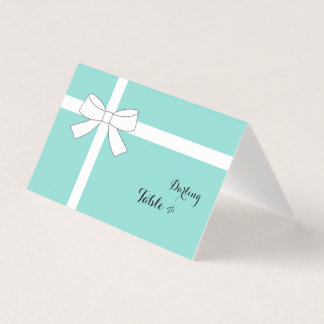 Party Shower Tiffany Teal Blue Place Escort Cards