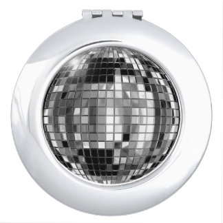 Party Silver Disco Ball Compact Mirror