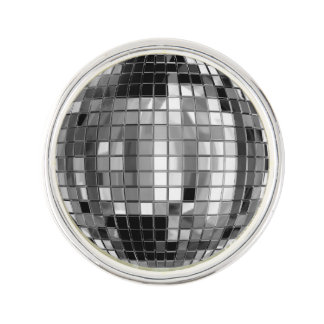 Party Silver Disco Ball Lapel Pin