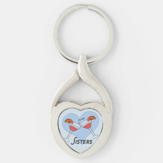Party Sister Love Keychain