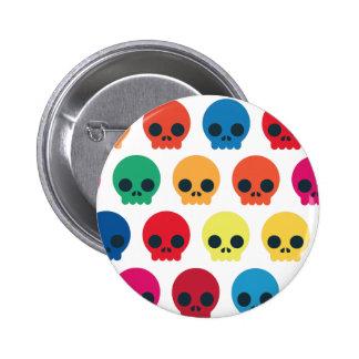 Party Skulls 2 Inch Round Button