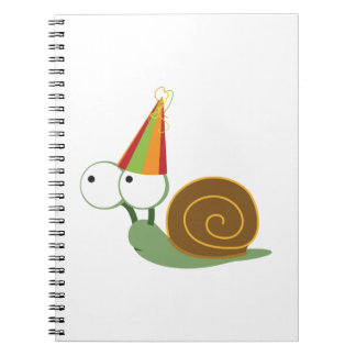 Party Snail Spiral Note Book
