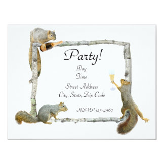 Party Squirrels Invitation