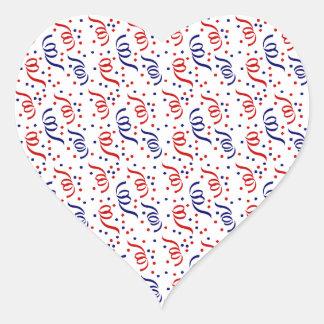 Party Streamers Heart Sticker