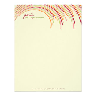 Party Stripes 01 | Modern Designer Letterhead