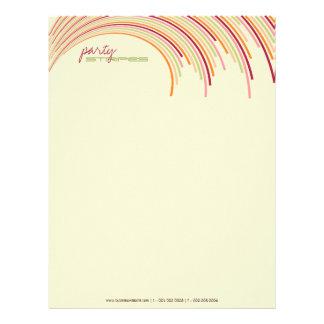 Party Stripes 01 | Modern Designer Letterhead
