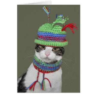 Party Tabby Cat Card