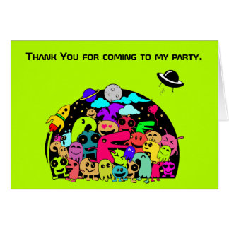 Party Thank You with Outer Space Theme Card