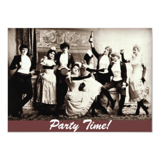Party Time Antique Women Celebrating Invites