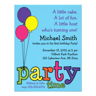Party Time Balloons Custom Invites