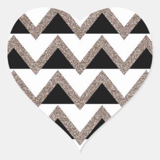 Party Time Chevron Heart Sticker