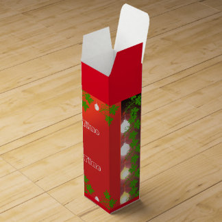 Party Time Christmas Red Wine Box