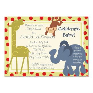Party Time Circus/ Baby Shower Card
