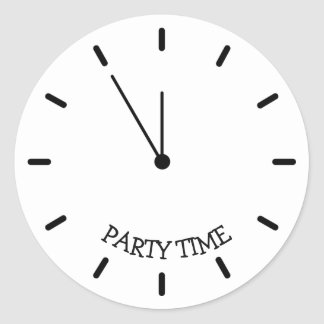 Party Time Clock Stickers