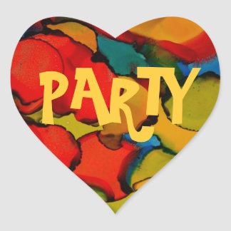 Party time collection heart stickers