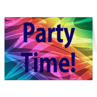 Party Time-Congratulations On Your Accomplishments Card
