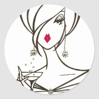 Party Time Diva stickers - Customized