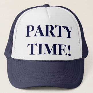 PARTY TIME! Hat for Men on Navy Blue & White