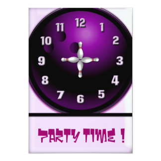 Party Time 5x7 Paper Invitation Card