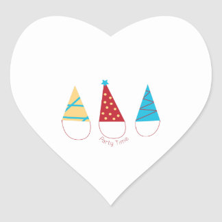 Party Time Heart Stickers