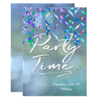 Party Time Streamers Card