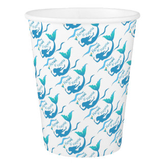 Party Time with Mermaids and Margaritas Paper Cup