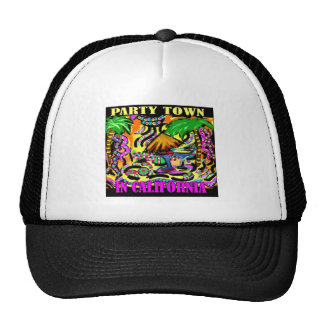 PARTY TOWN IN CALIFORNIA TRUCKER HAT