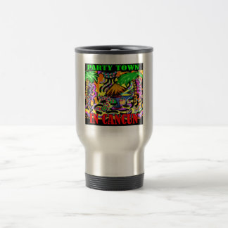 PARTY TOWN IN CANCUN TRAVEL MUG