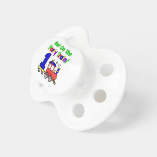 Party Train First Birthday Baby Pacifiers