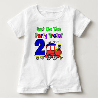 Party Train Second Birthday Baby Romper