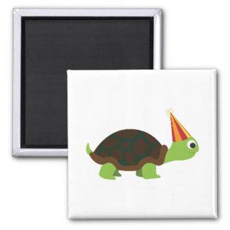 Party Turtle Fridge Magnet